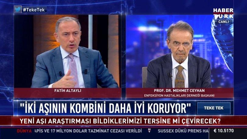 3. doz aşı olmanın bir sakıncası var mı? Prof. Dr. Mehmet Ceyhan, Habertürk TV'de açıkladı - Haberler