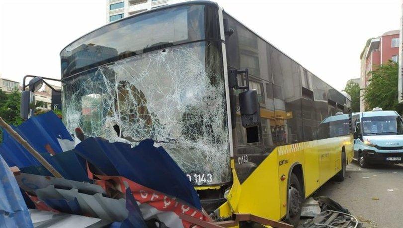 Kağıthane'de İETT otobüsü kazası kamerada