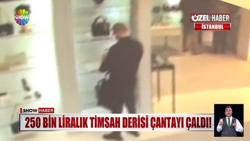 Sarıyer'deki hırsız mağazada bulunan değerli çantayı alıp kayboldu