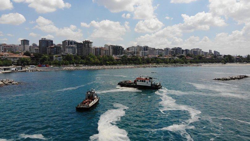 MÜSİLAJ TEMİZLİĞİ! Caddebostan Sahili'ndeki müsilaj temizlemede son durum görüntülendi - Haberler