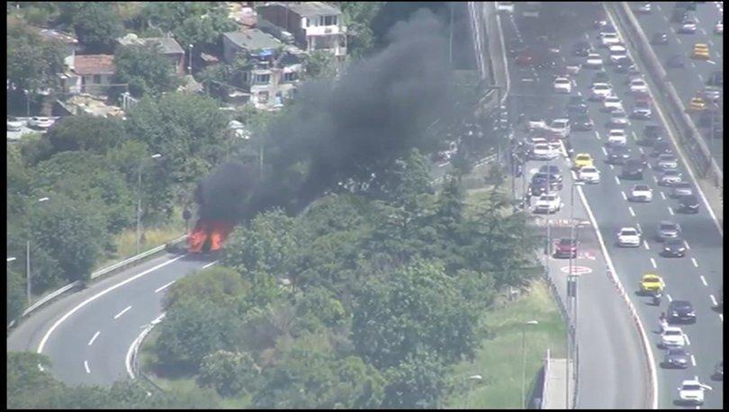 İstanbul'da köprü yolunda korkutan yangın! - Haberler