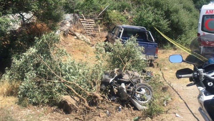 Marmaris'te kamyonet ile motosiklet çarpıştı: 1 ölü, 2 yaralı