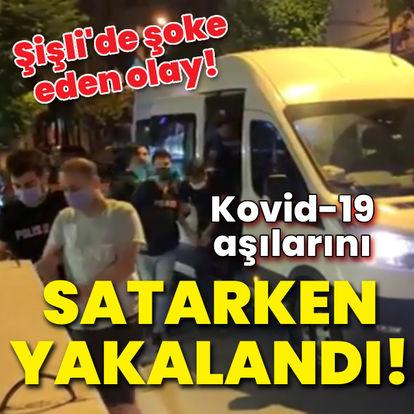 Kovid-19 aşılarını satarken yakalandı!