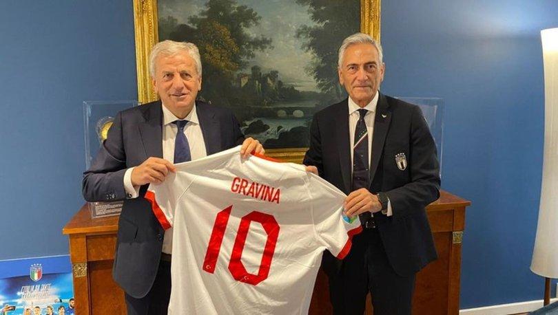 Yardımcı'dan İtalya Futbol Federasyonu Başkanı Gravina'ya ziyaret
