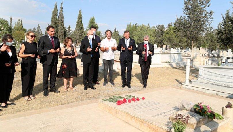 Son dakika: CHP lideri Kılıçdaroğlu Kutlu Adalı'nın mezarını ziyaret etti