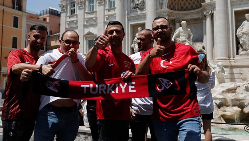 Roma'da 'Türkiye' tezahüratları