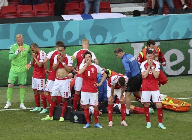 Christian Eriksen Danimarka - Finlandiya maçında korkuttu