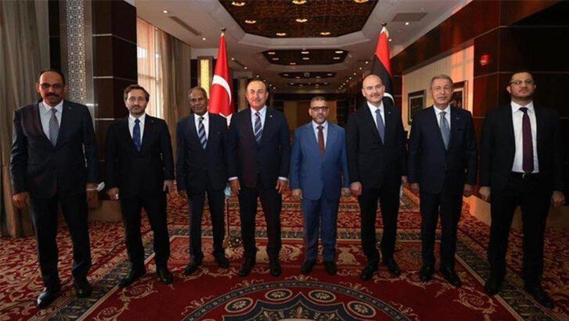 Bakan Çavuşoğlu, Libya Devlet Yüksek Konseyi Başkanı Mişri ile görüştü