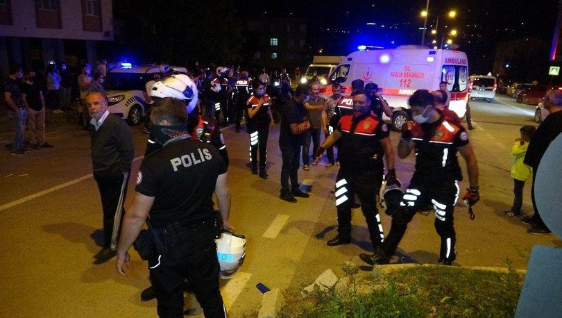 Samsun'da motosikletli polisler kaza yaptı: 2'si polis 4 yaralı