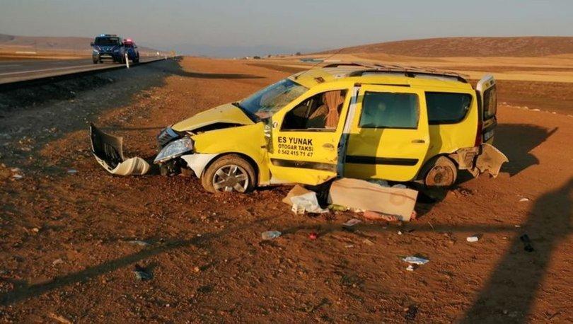 Taksi şarampole devrildi: 1 ölü, 5 yaralı