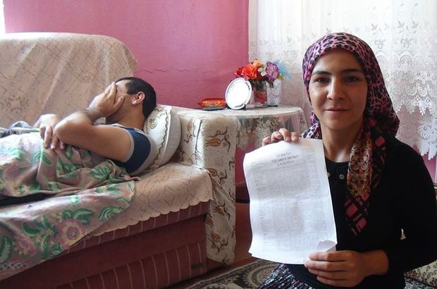 Eşine engelli maaşı için gitti, şoke oldu