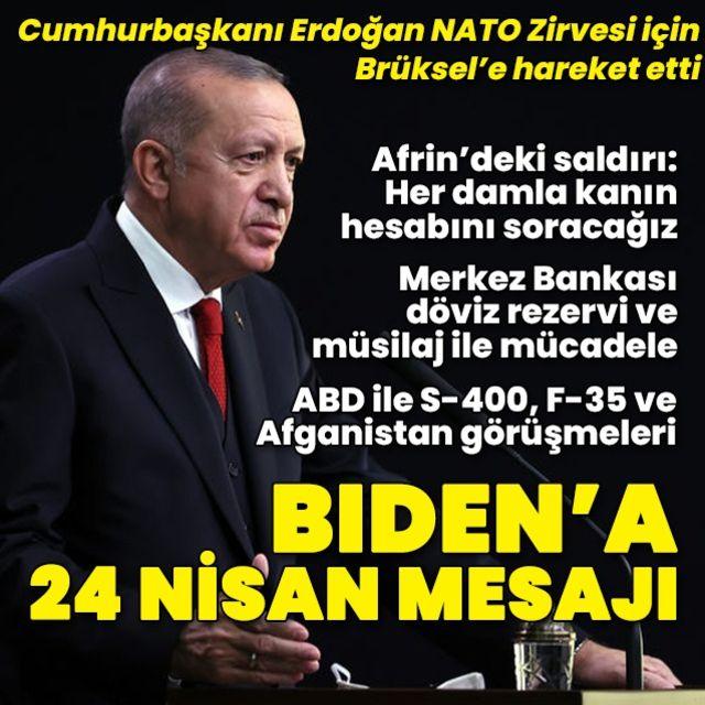 Cumhurbaşkanı Erdoğan Brüksele gidiyor!