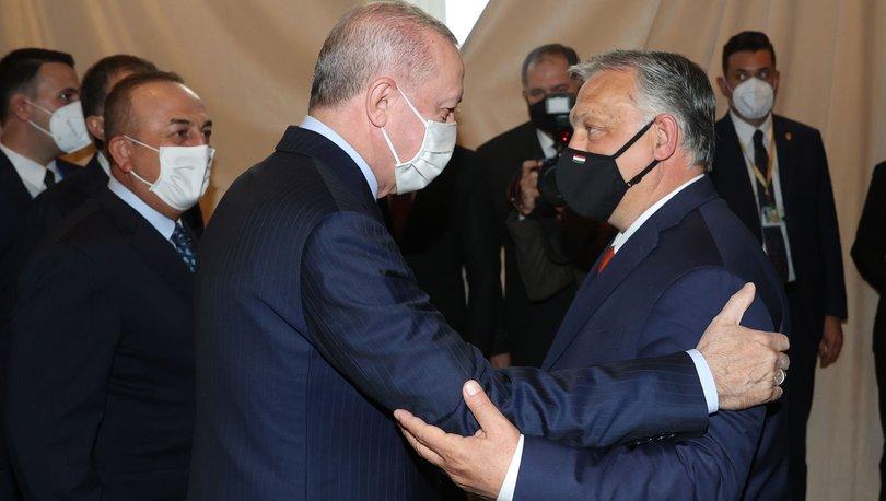 Son dakika haberi Cumhurbaşkanı Erdoğan, Macar Başbakanı ile bir araya geldi