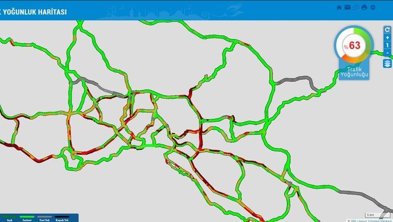 İSTANBUL KİLİT! Son dakika: Kısıtlama sonrası yoğunluk - Trafik haritası