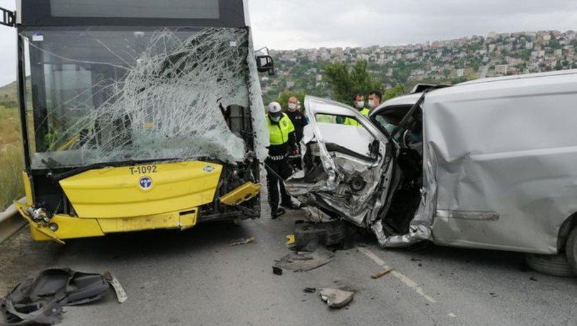 İETT otobüsüne çarpan sürücünün feci sonu!