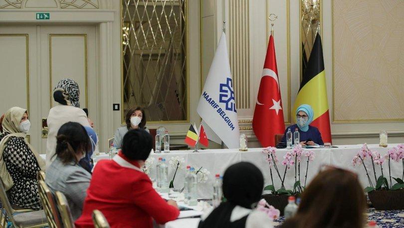 Emine Erdoğan Brüksel'de Maarif Vakfı'nın istişare toplantısına katıldı