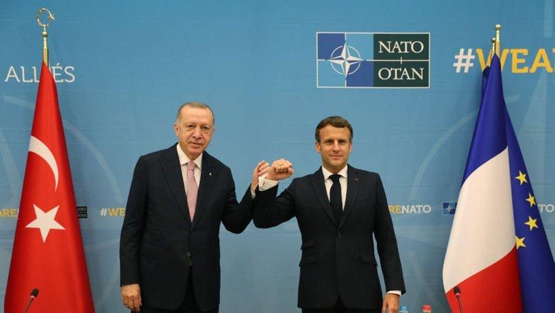 Macron, Erdoğan ile görüşmenin