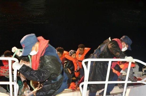 Ayvalık'ta Türk kara sularına itilen 8 sığınmacı kurtarıldı