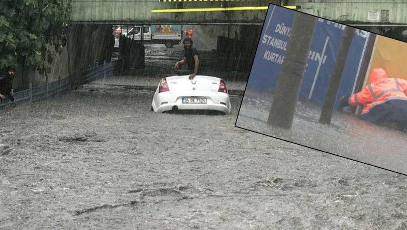 SEL BASTI! Son dakika: İstanbul'da sağanak! Araçlar suya gömüldü - Haberler