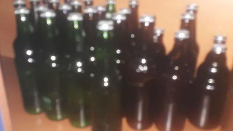 Aracında 108 şişe kaçak içki ele geçirilen şüpheli gözaltına alındı