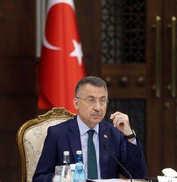 Cumhurbaşkanı Yardımcısı Fuat Oktay, TBMM-Kuzey Kıbrıs Türk Cumhuriyeti (KKTC) Parlamentolar Arası Dostluk Grubu Başkanı Orhan Erdem ile üyelerini kabul etti
