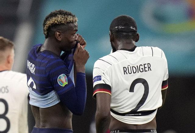 EURO 2020 Fransa - Almanya maçından çok konuşulacak pozisyon! Rüdiger, Pogba'yı ısırdı mı? - Spor Haberleri