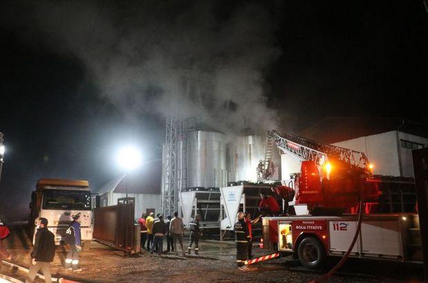 Bioenerji fabrikasında korkutan yangın