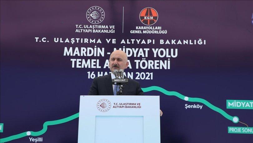 Bakan Karaismailoğlu: Mardin-Midyat Yolu'nu tamamen bölünmüş yol haline getirmek için çalışmalara başlıyoruz