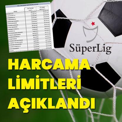 Süper Lig'de harcama limitleri açıklandı