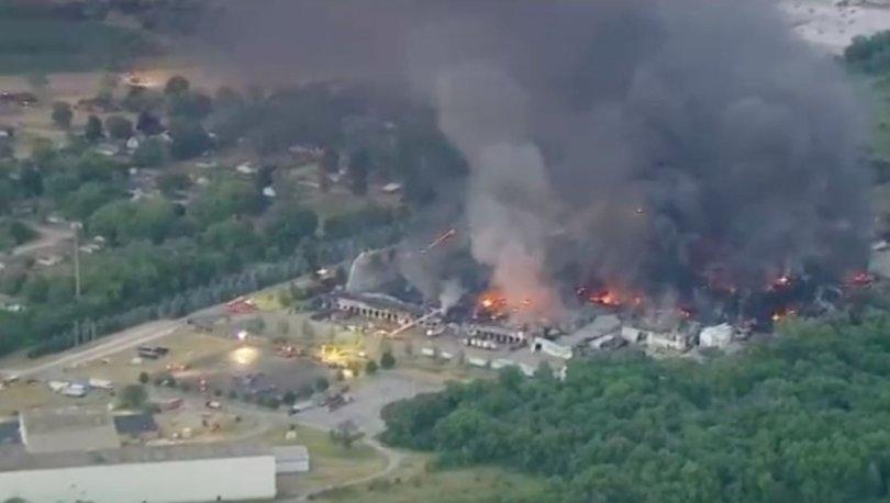 SON DAKİKA: ABD'de kimyasal madde üretilen tesisteki yangın söndürülemiyor! - Haberler