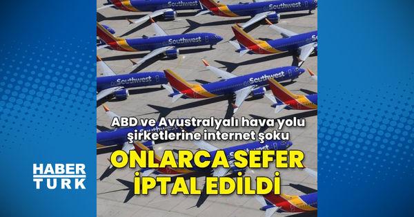 ABD ve Avustralya hava yolu şirketlerine internet şoku