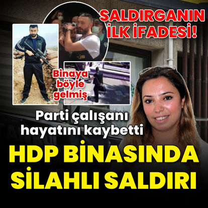 HDP İzmir İl Başkanlığı'nın bulunduğu binada silah sesleri