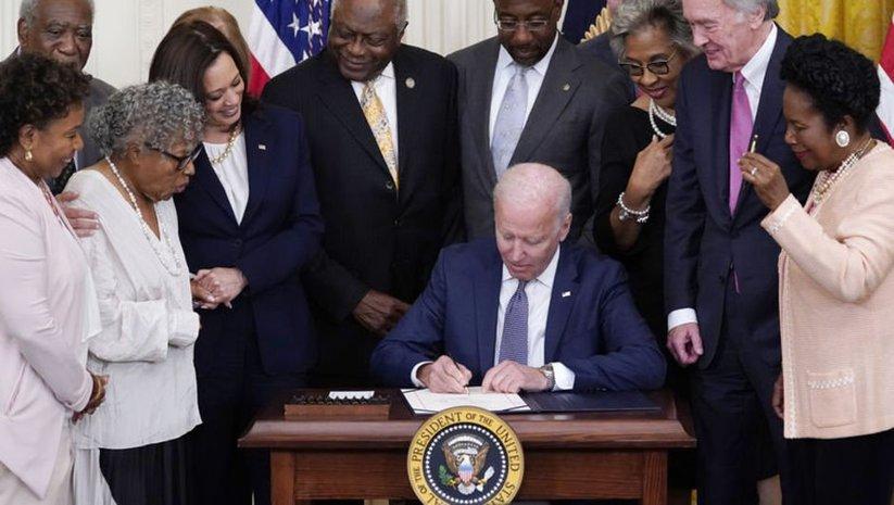 ABD'de köleliğin kaldırıldığı 19 Haziran federal tatil oldu