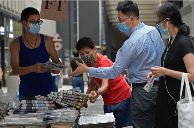 Hong Konglular Apple Daily gazetesine destek verdi
