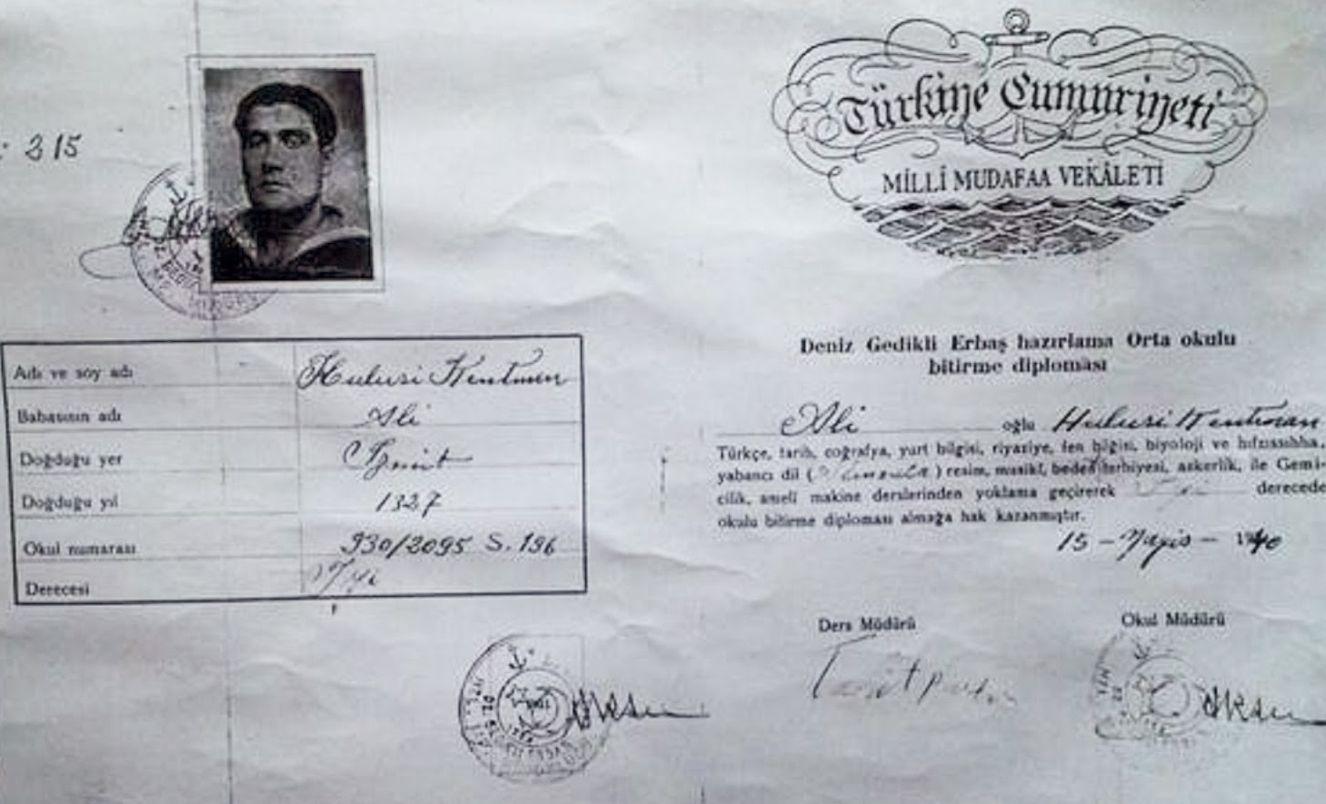 Hulusi Kentmen'in Tırnova'da doğum kaydı çıkarılamadığı için doğum yeri İzmit olarak kayda geçti.