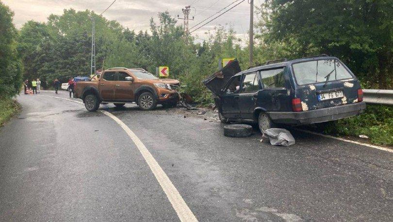 İki araç kafa kafaya çarpıştı: 2 yaralı - HABERLER