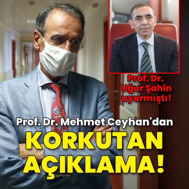 Prof. Dr. Ceyhandan korkutan açıklama!