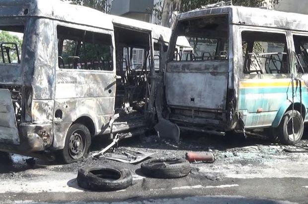 Çarpışan yolcu minibüsleri yandı: 6 yaralı