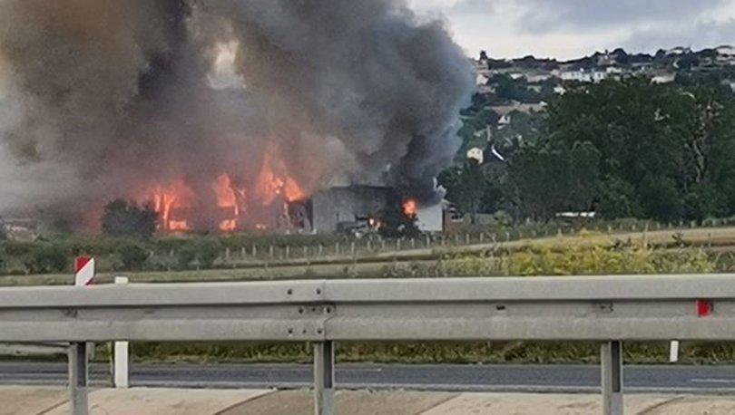 Son dakika haberi Çatalca'da fabrikada yangın!