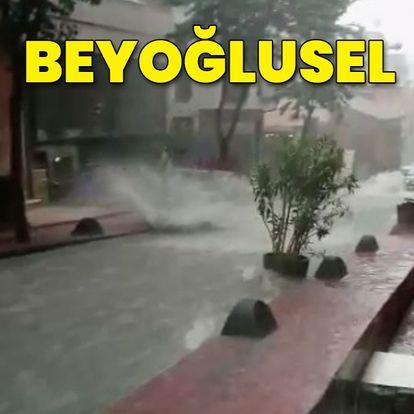 Beyoğlu'nda yürekleri ağza getiren görüntü
