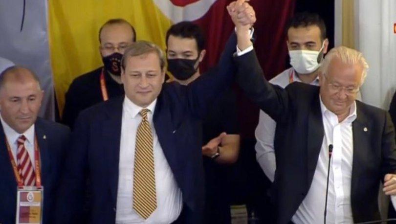 Galatasaray'da seçime damga vuran an: Burak Elmas ve Eşref Hamamcıoğlu kürsüde birlikte!