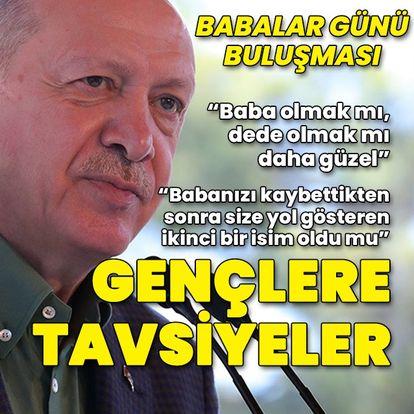 Cumhurbaşkanı Erdoğan'dan 'Babalar Günü' buluşması