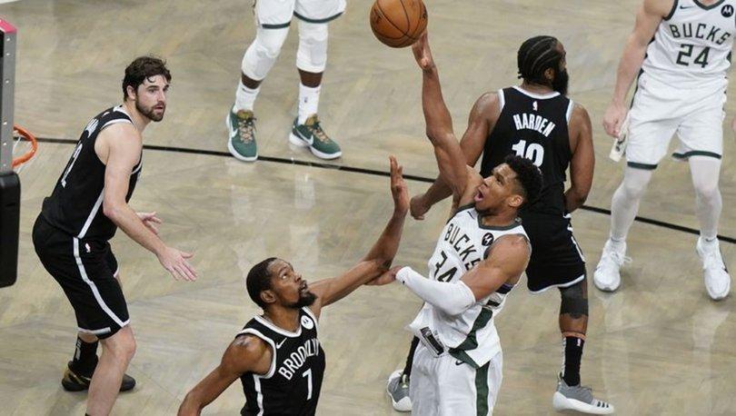 NBA'de Brooklyn Nets'i eleyen Milwaukee Bucks, Doğu Konferansı finaline yükseldi