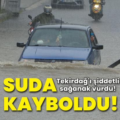 Tekirdağ'da araçlar suya gömüldü!