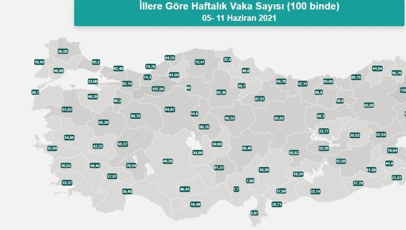 İl il risk haritası 20 Haziran! Türkiye risk haritasına göre düşük, orta, yüksek ve çok yüksek riskli illeri