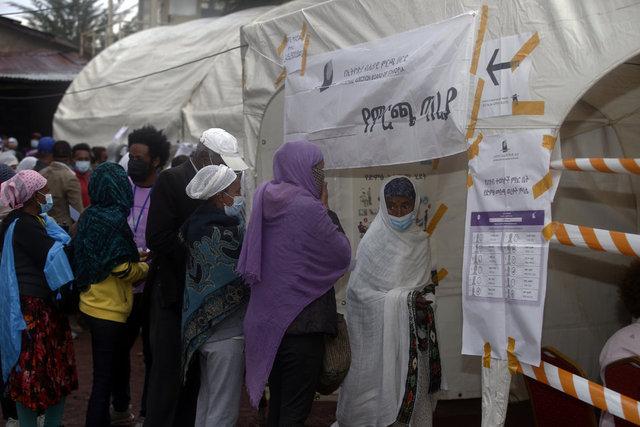 Etiyopya'daki genel seçimlerden manzaralar