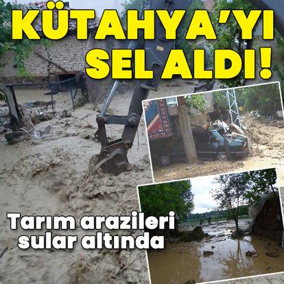Kütahya'da sağanak etkisi! Tarım arazileri sular altında