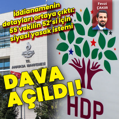 HDP iddianamesi kabul edildi!