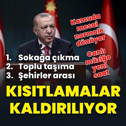 Erdoğan: Sokağa çıkma kısıtlaması 1 Temmuz'da kalkıyor