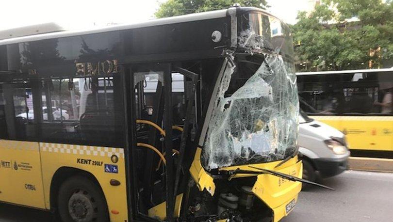 Bağcılar'da İETT otobüsü servis aracına çarptı: 4 kişi hafif yaralandı